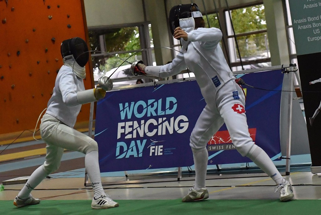 Many countries were involved in World Fencing Day ©FIE