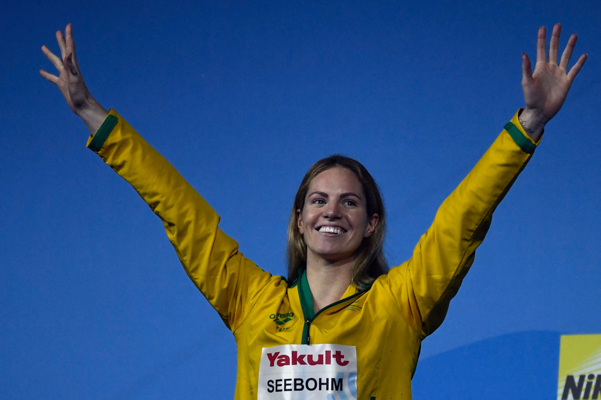 Emily Seebohm is nominated after her world title win in Budapest ©Getty Images
