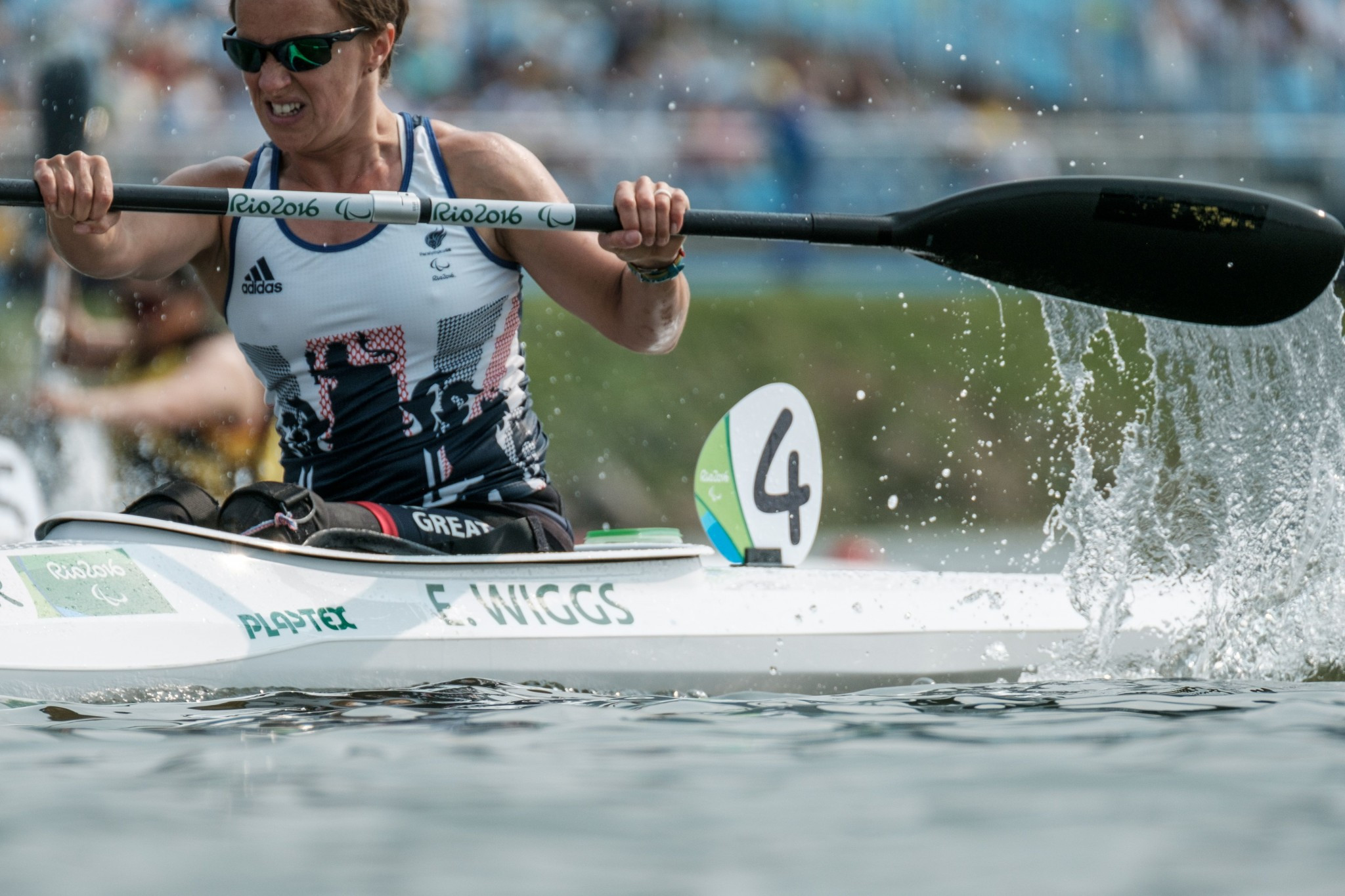 British canoeist Emma Wiggs was in second place ©Getty Images