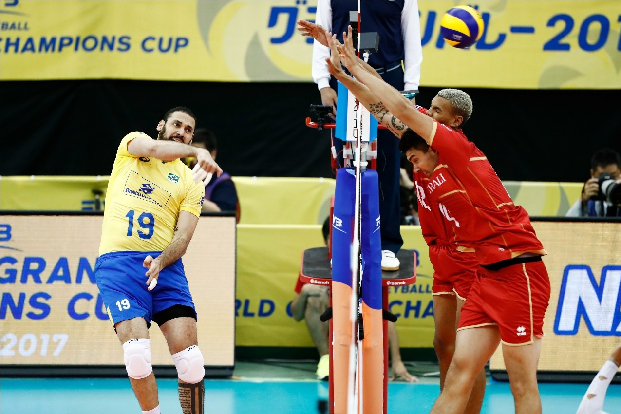 Brazil beat France to begin FIVB Men's World Grand Champions Cup defence