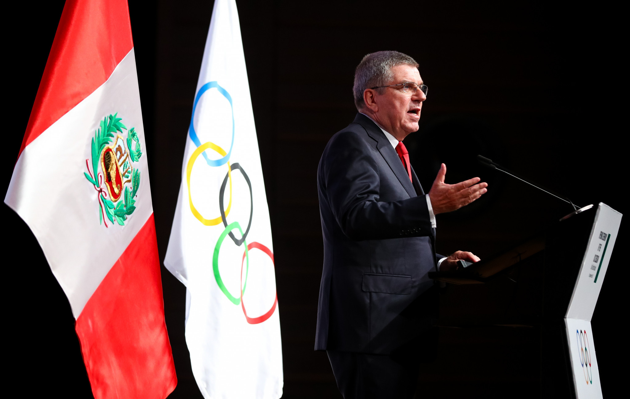 Thomas Bach delivered a lengthy address ©Getty Images