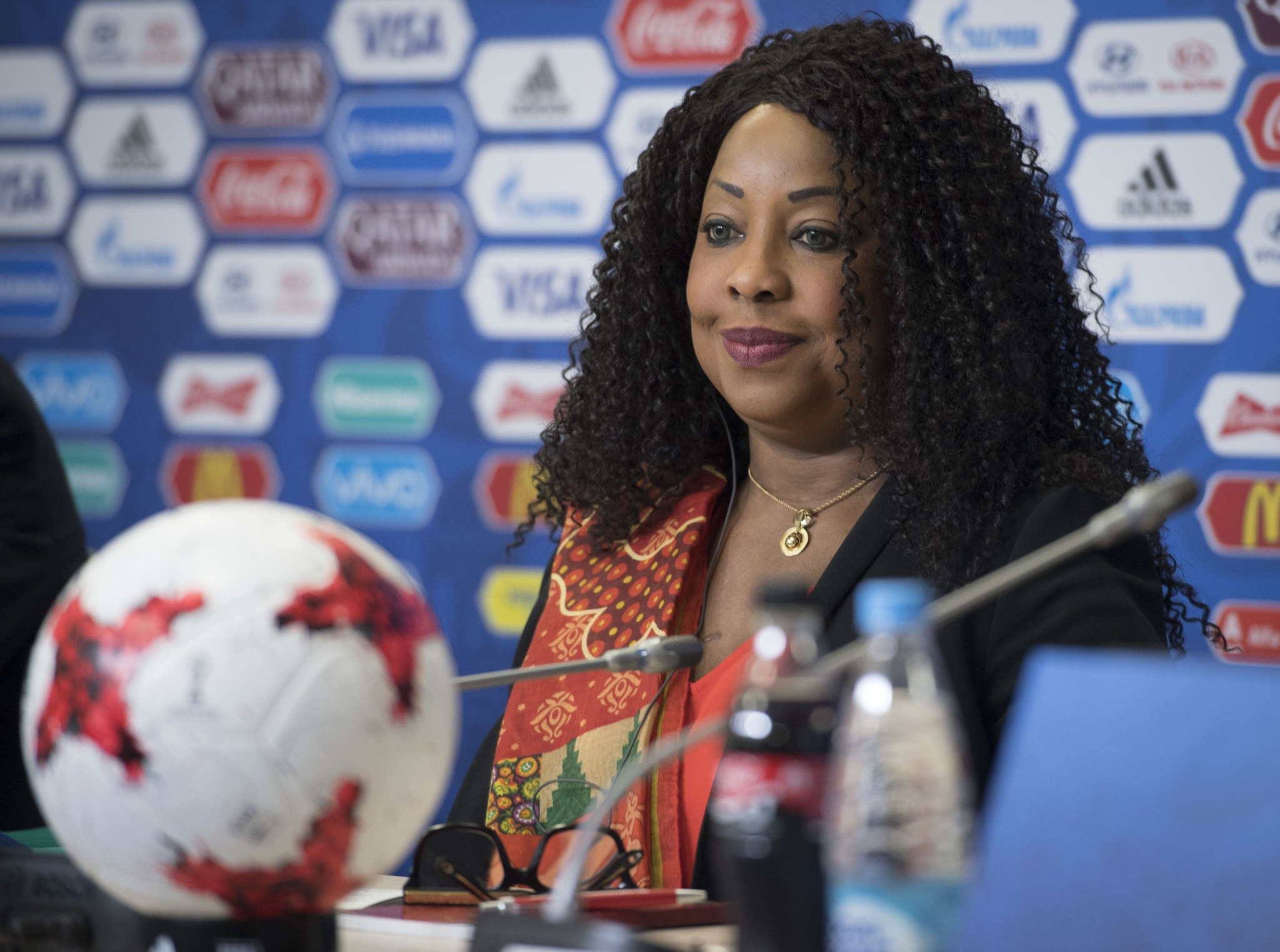 FFA secretary general Fatma Samoura warned banning Vitaly Mutko from standing would be a disaster for the 2018 World Cup and Gianni Infantino's Presidency ©Getty Images