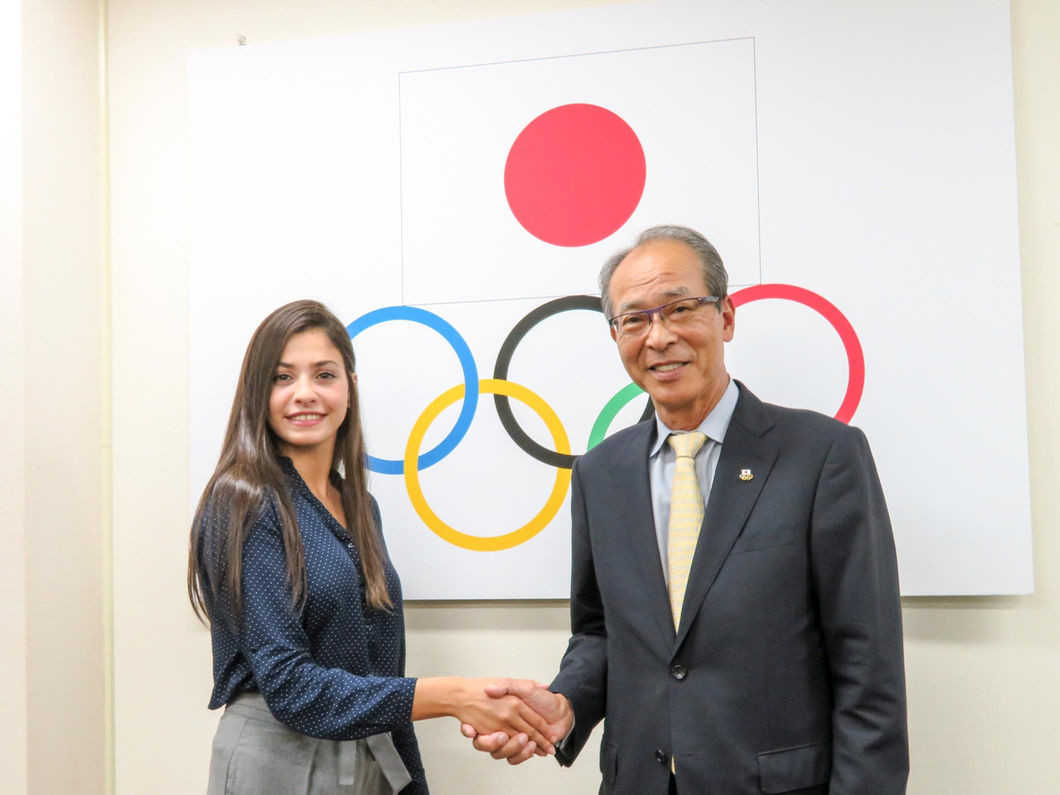 Japanese Olympic Committee welcome refugee athlete to Tokyo