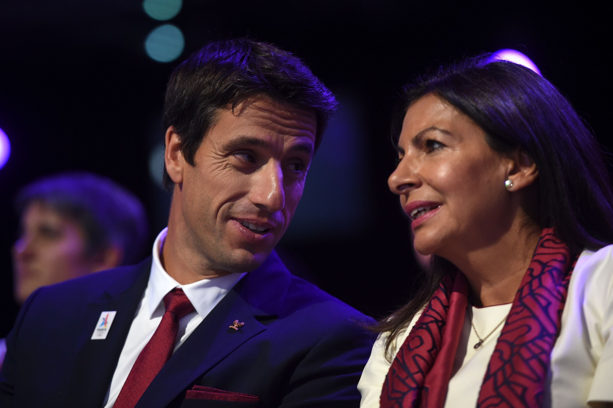 Tony Estanguet, left, and Anne Hidalgo were among leading Paris 2024 speakers ©Getty Images