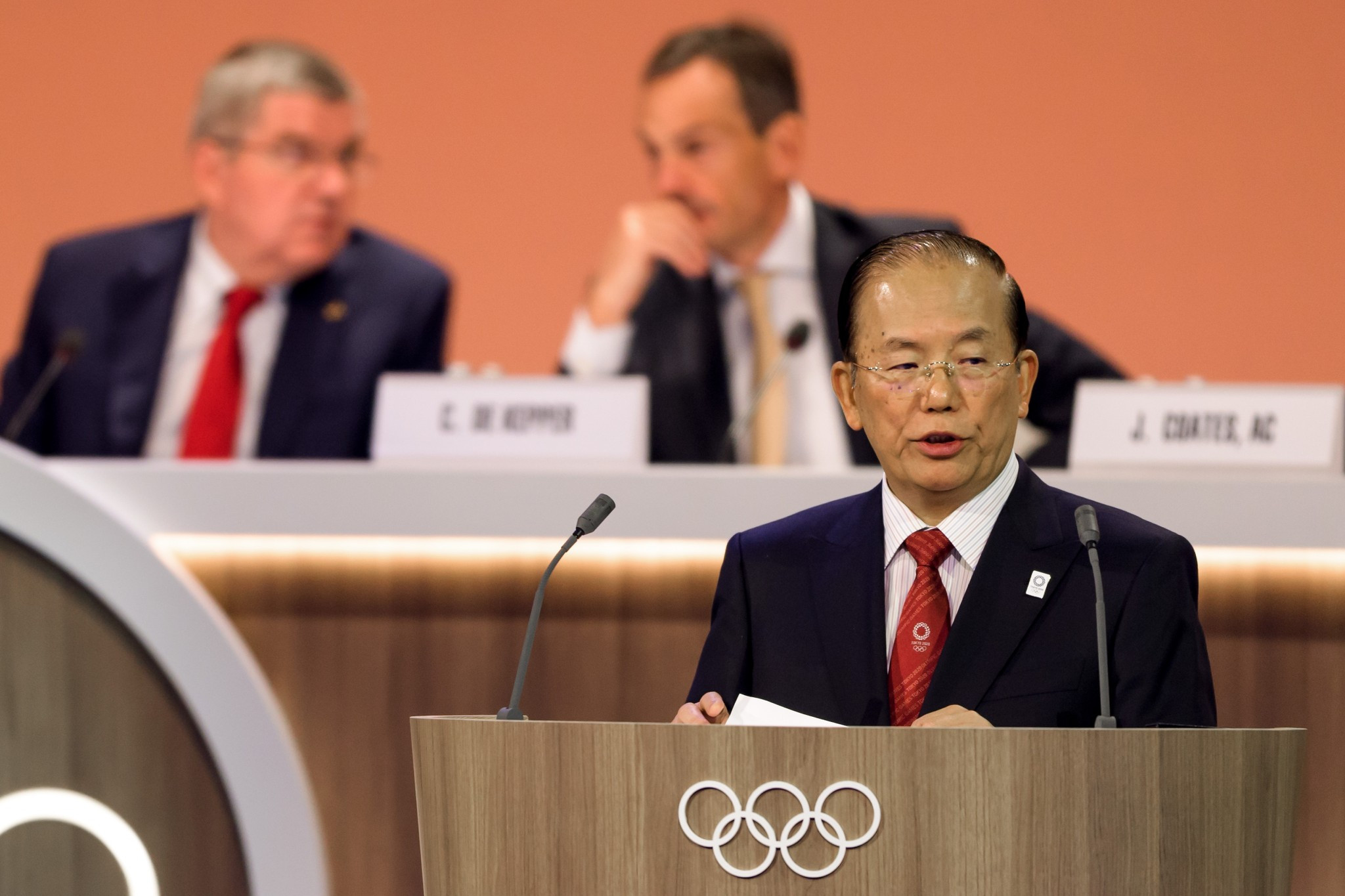Tokyo 2020 chief executive Toshiro Muto provided an update on organisers plans ©Getty Images