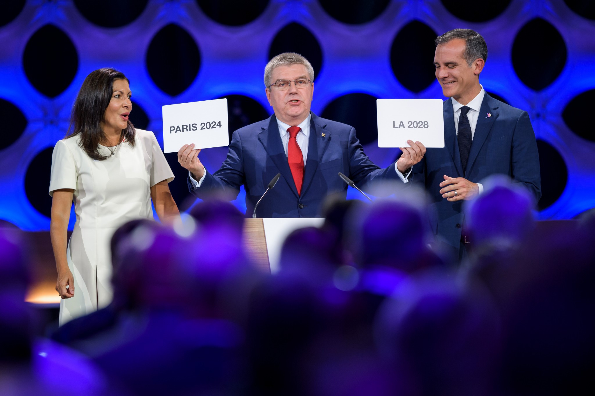 IOC President Thomas Bach said the decision would provide extraordinary benefits to the Olympic Movement ©Getty Images