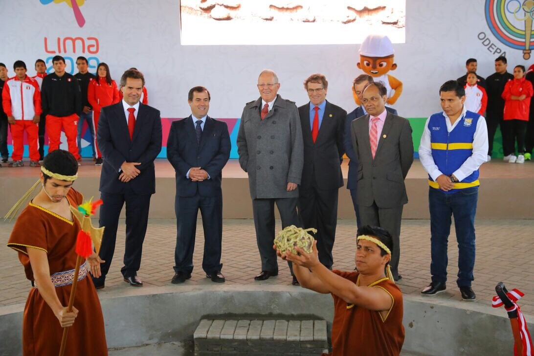 The Ceremony officially marked the start of one of  the organisers' biggest building projects for the Games ©Lima 2019