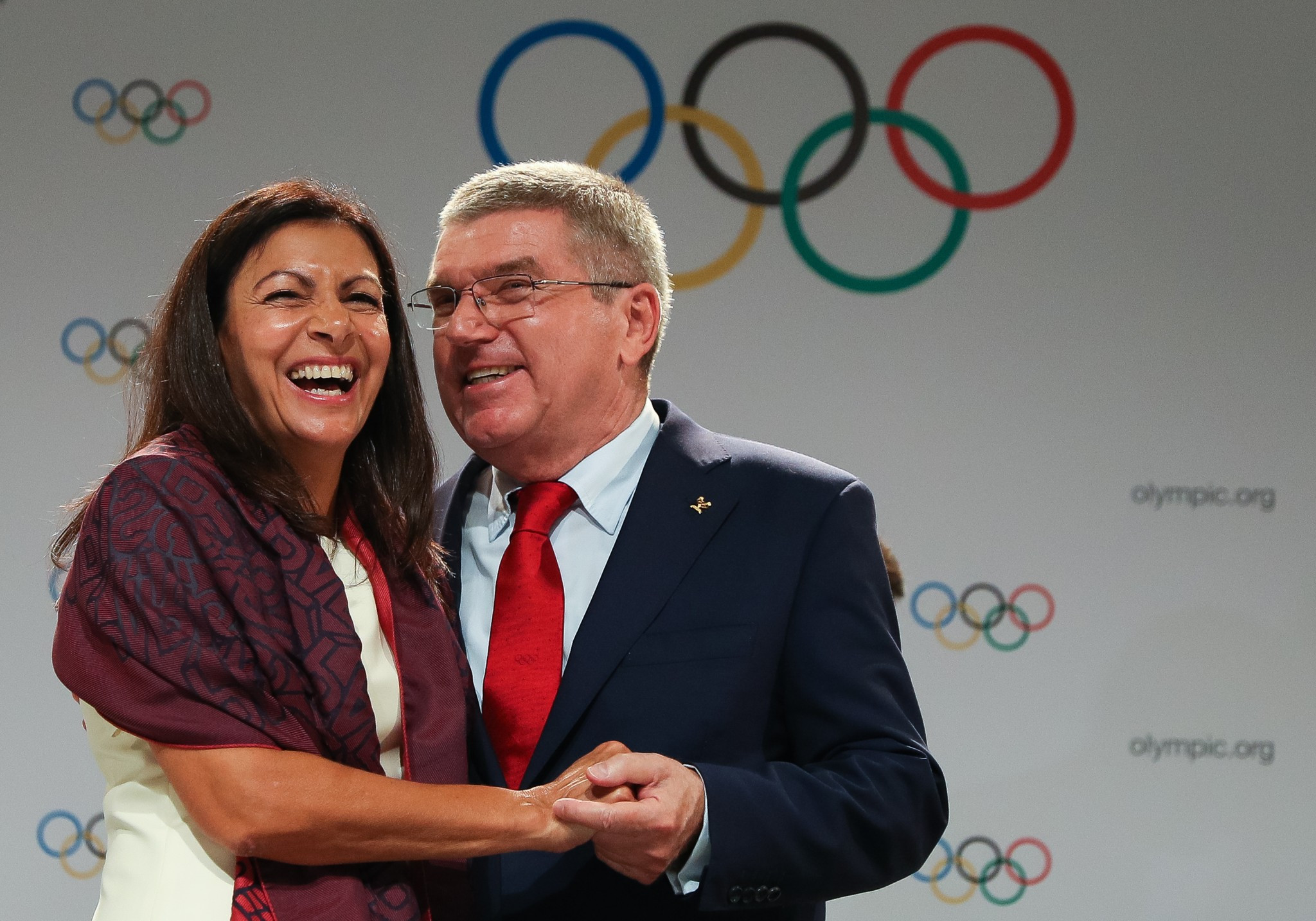 Paris Mayor Anne Hidalgo claimed the Games would regenerate both cities ©Getty Images