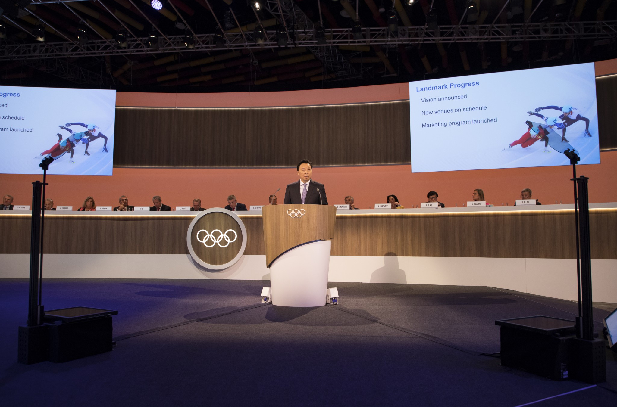 Beijing 2022 delivered a progress work to the IOC Session ©IOC