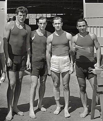Sergei Makarenko, second right, at the Rome 1960 Olympics where he won gold ©Wikipedia