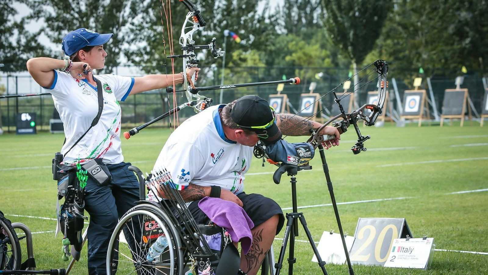 Eleanora Sarti and Alberto Simonelli broke the match play world record today ©World Archery