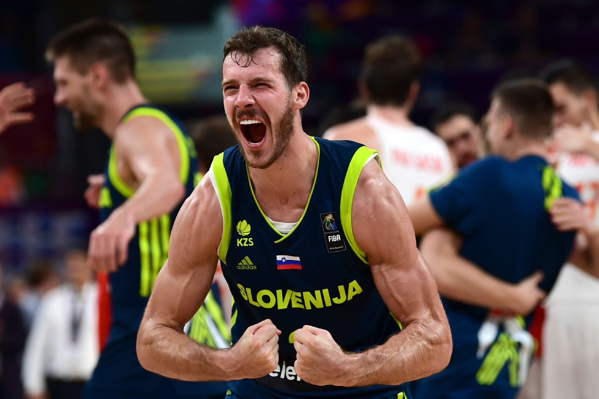 Slovenia stunned Spain to reach the EuroBasket final ©Getty Images