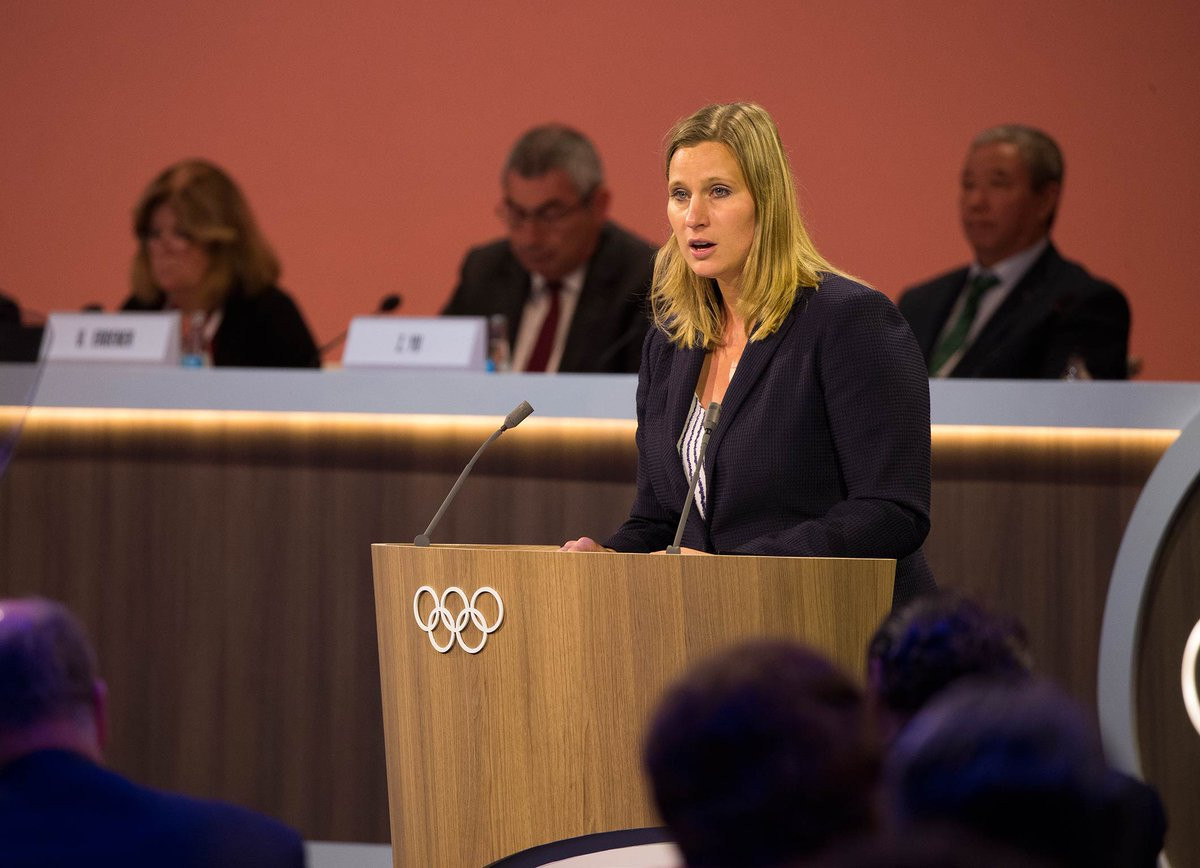 Angela Ruggiero announced the launch of the Athletes' Commission strategy ©IOC