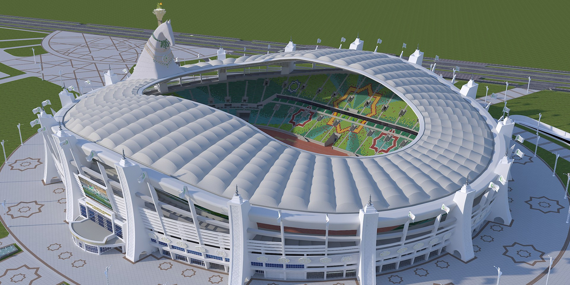 The newly-built Ashgabat Olympic Stadium will host the Opening and Closing Ceremonies of the 2017 Asian Indoor and Martial Arts Games ©Ashgabat 2017