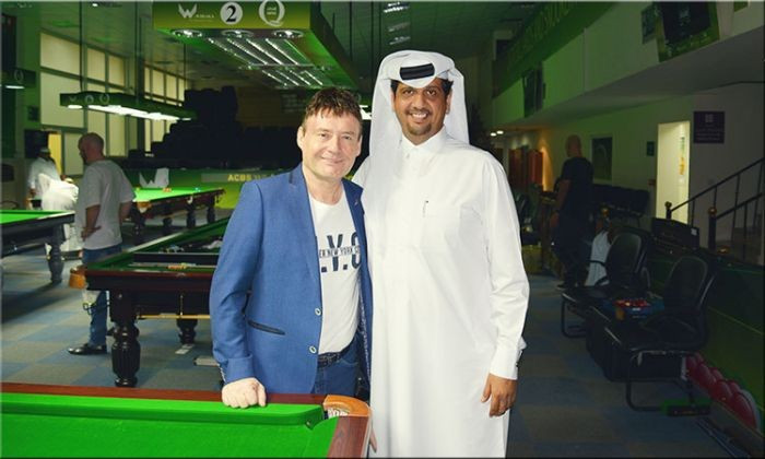 Snooker legend White meets IBSF President in Qatar