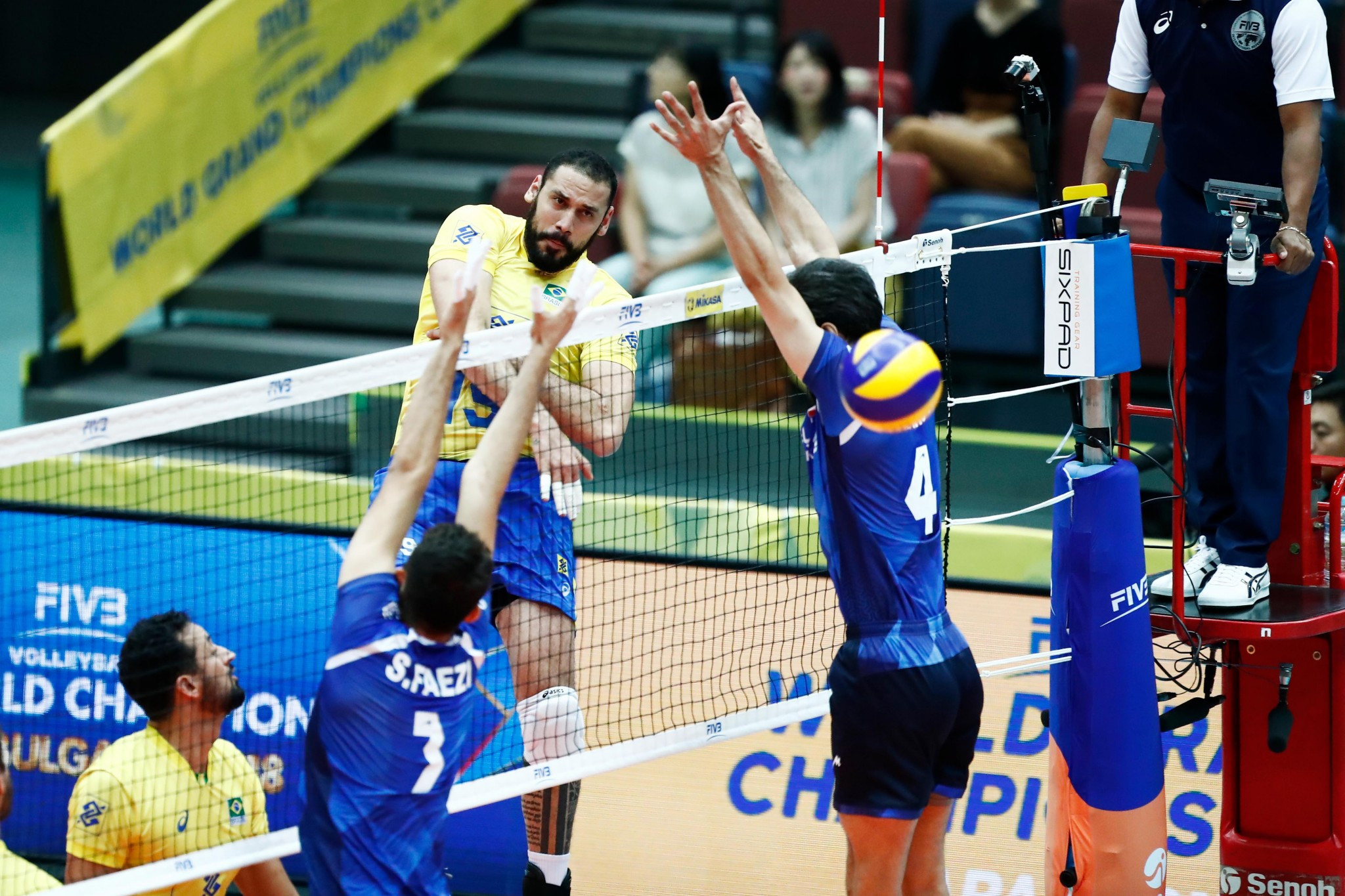 Brazil end Iran's 100 per cent start at FIVB World Grand Champions Cup