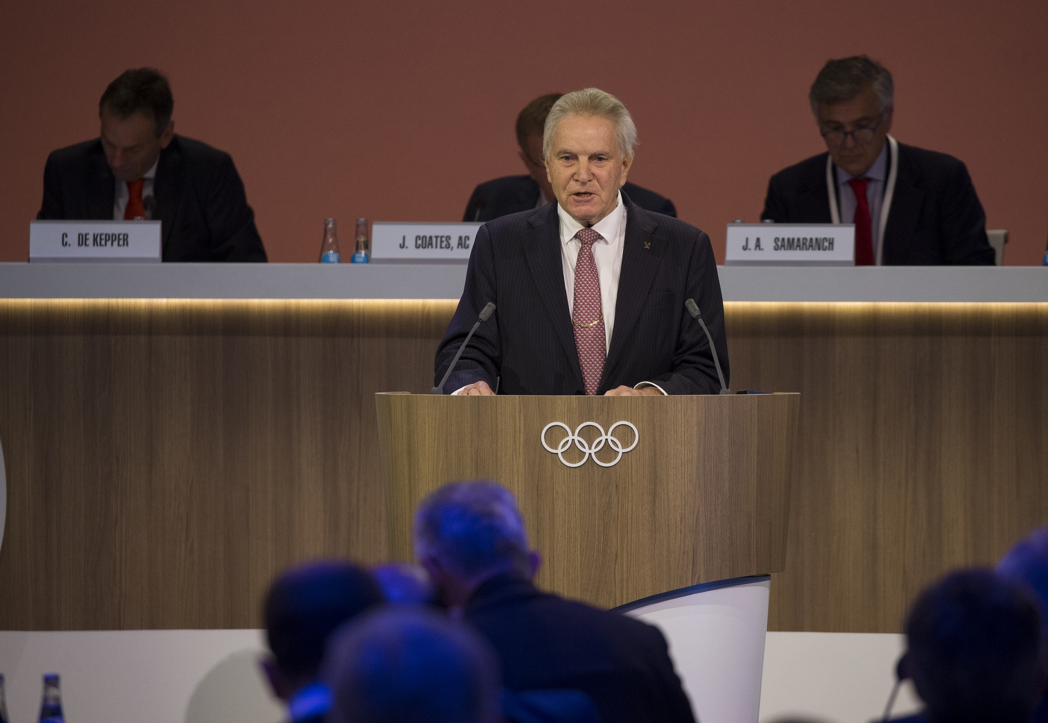 Denis Oswald presented his interim report to the Session today ©IOC