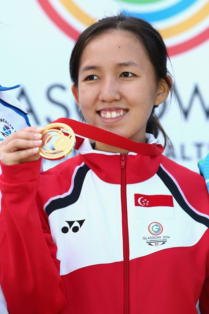Jasmine Ser earned shooting gold at the Glasgow 2014 Commonwealth Games ©Getty Images