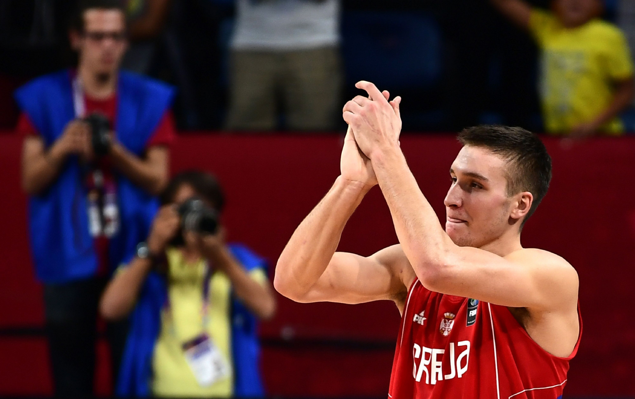 Serbia's Bogdan Bogdanovic scored 24 points in his team's EuroBasket sem-final win over Russia ©Getty Images