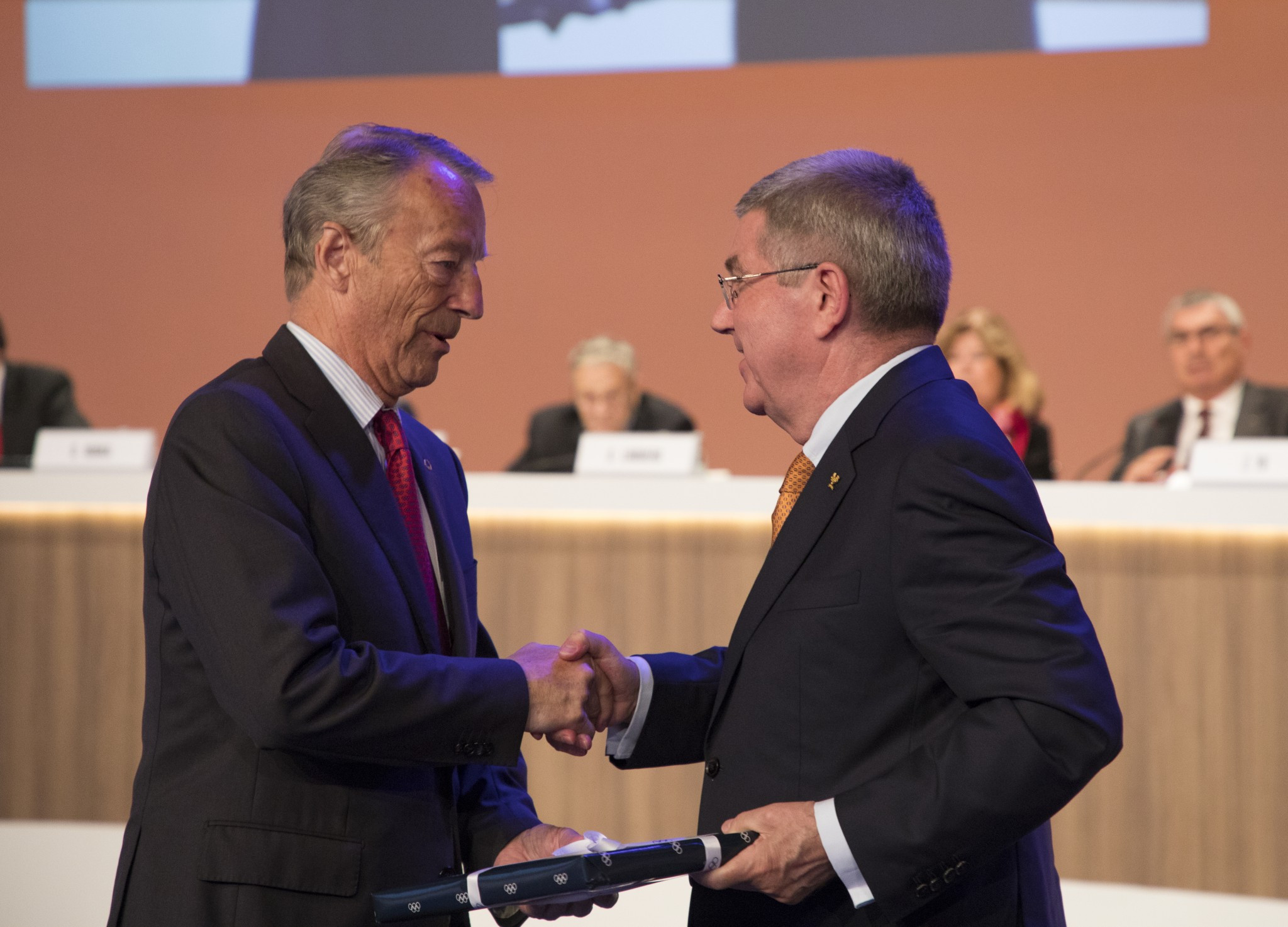 Norway's Gerhard Heiberg was made an honorary member of the IOC after stepping down following 23 years ©IOC