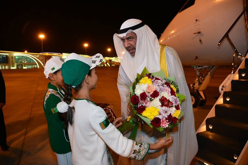 Sheikh Ahmad arrives in Ashgabat for Asian Indoor and Martial Arts Games