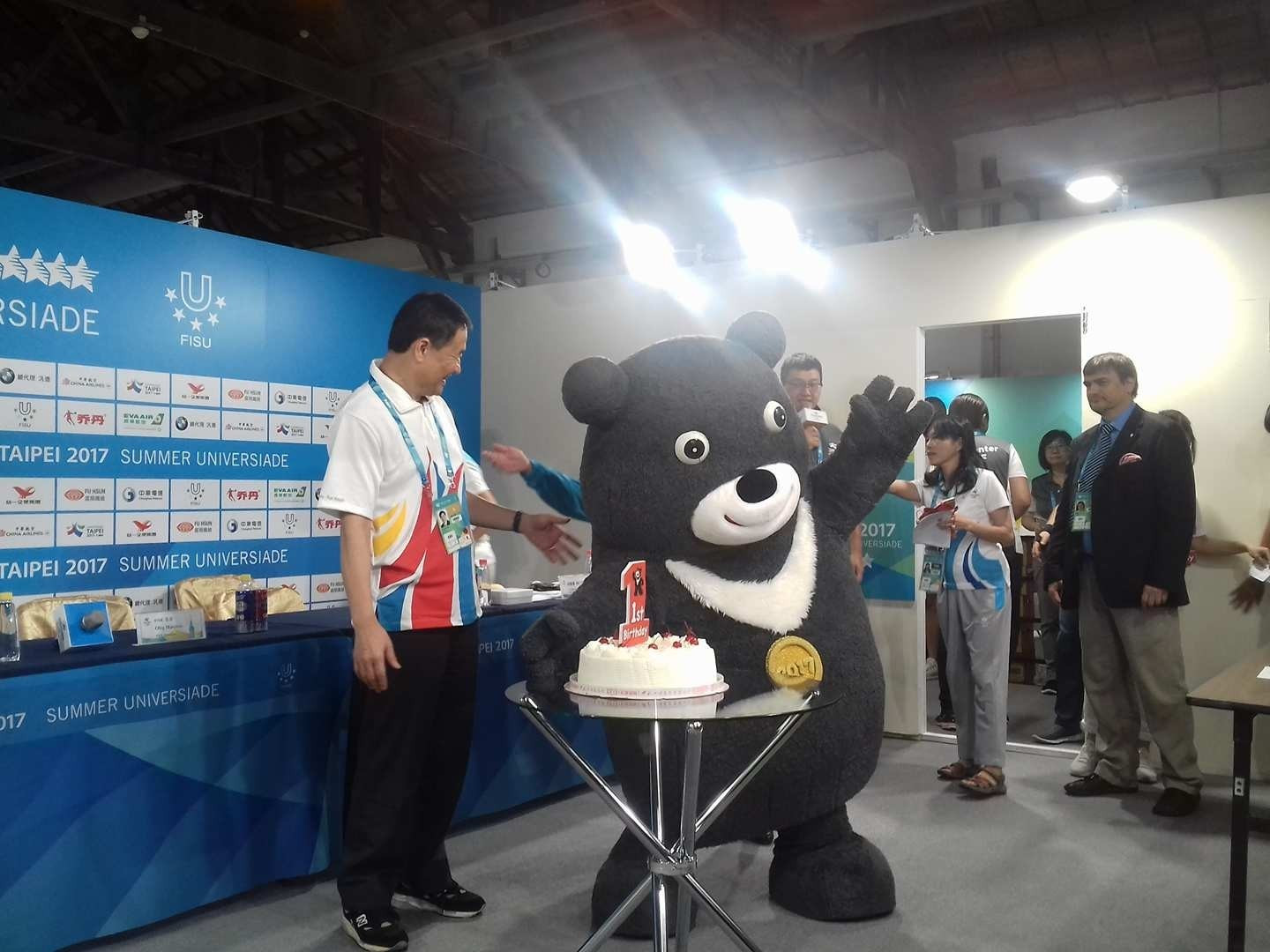 Bravo, the mascot of Taipei 2017, is currently seeking new employment ©ITG