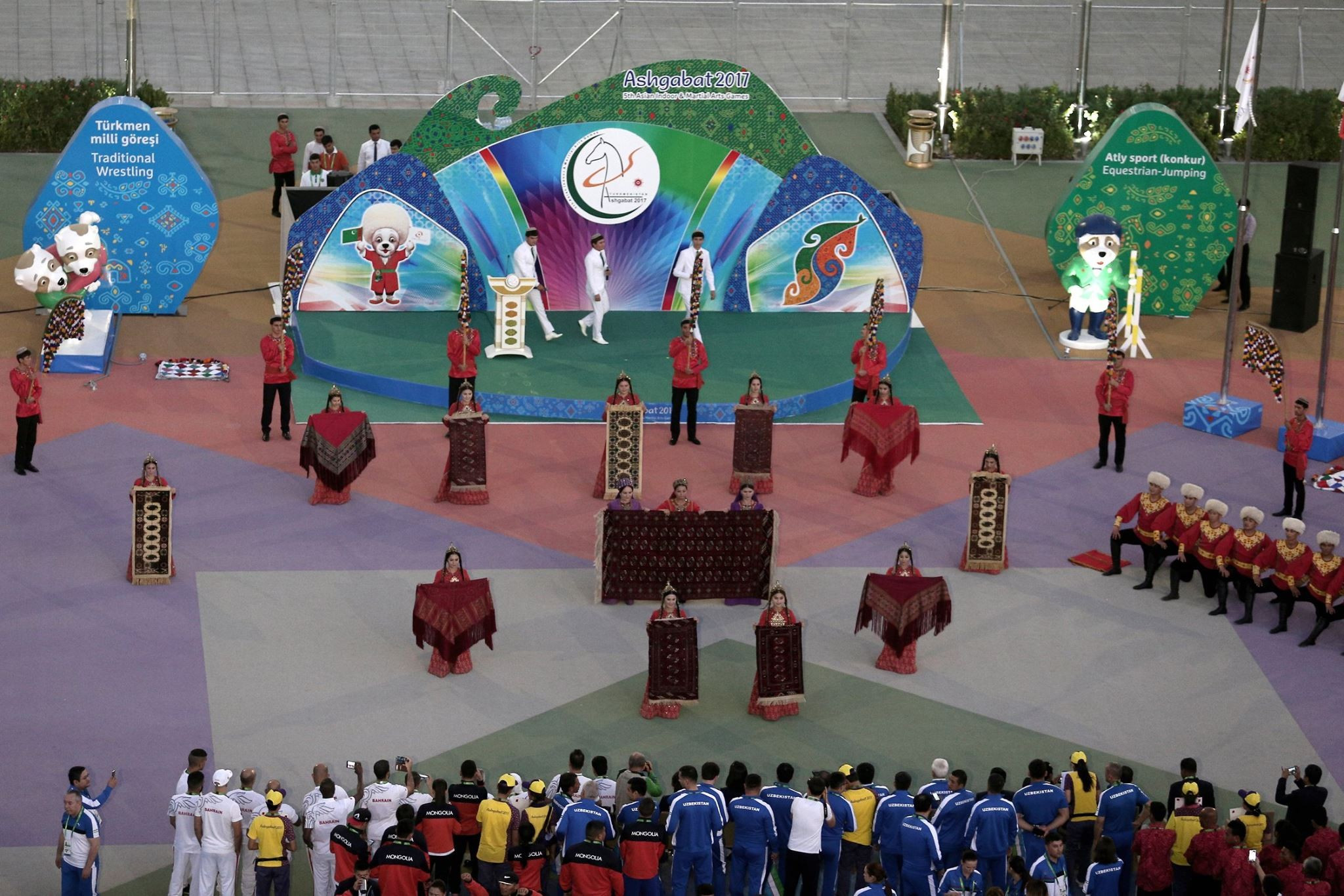 Preparations continue as sporting action begins at Ashgabat 2017