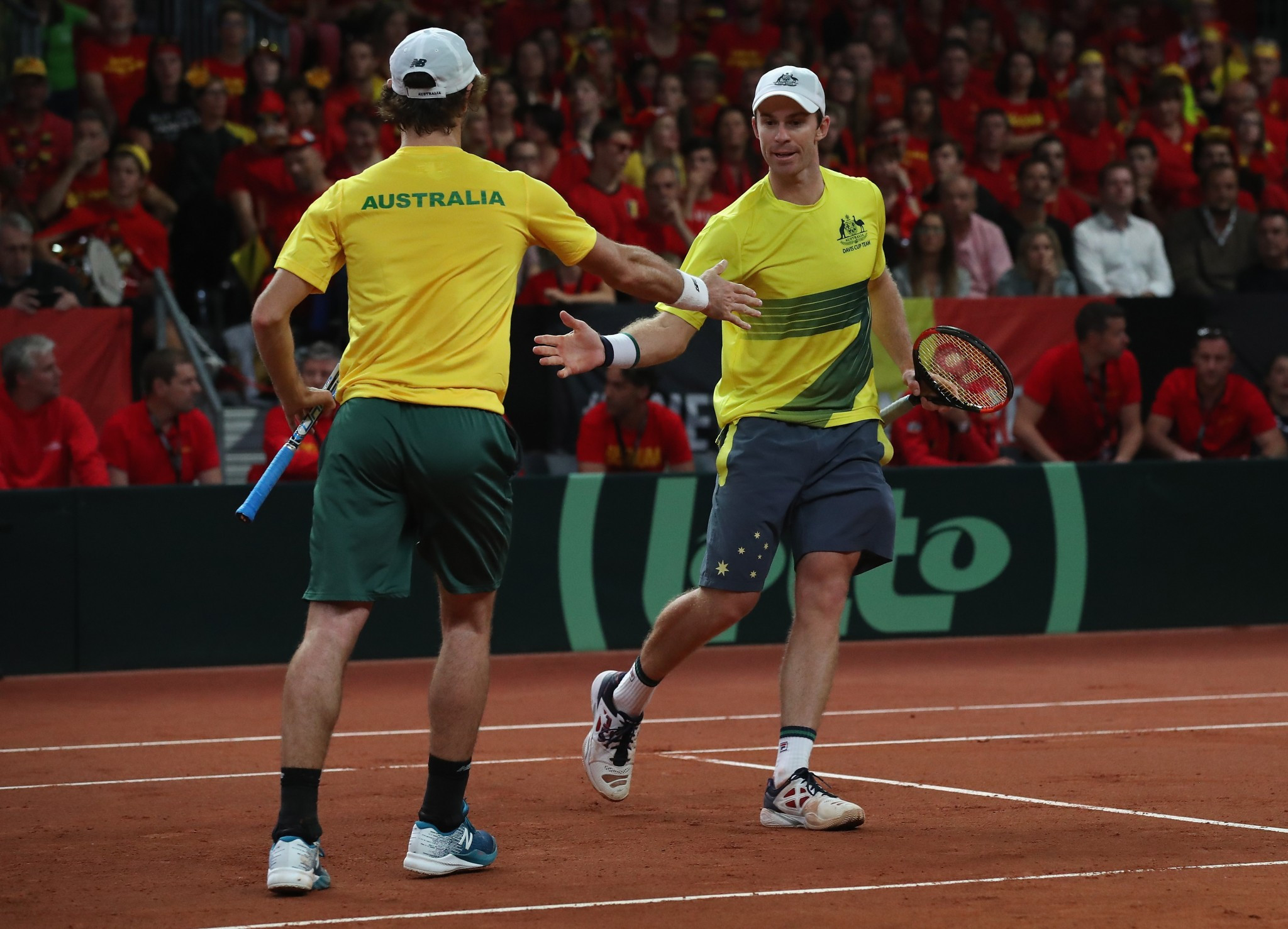 Australia lead Belgium 2-1 in their Davis Cup semi-final following today's doubles action ©Getty Images
