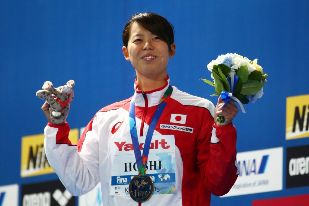 Natsumi Hoshi became the first Japanese woman to earn gold at a FINA World Championships
