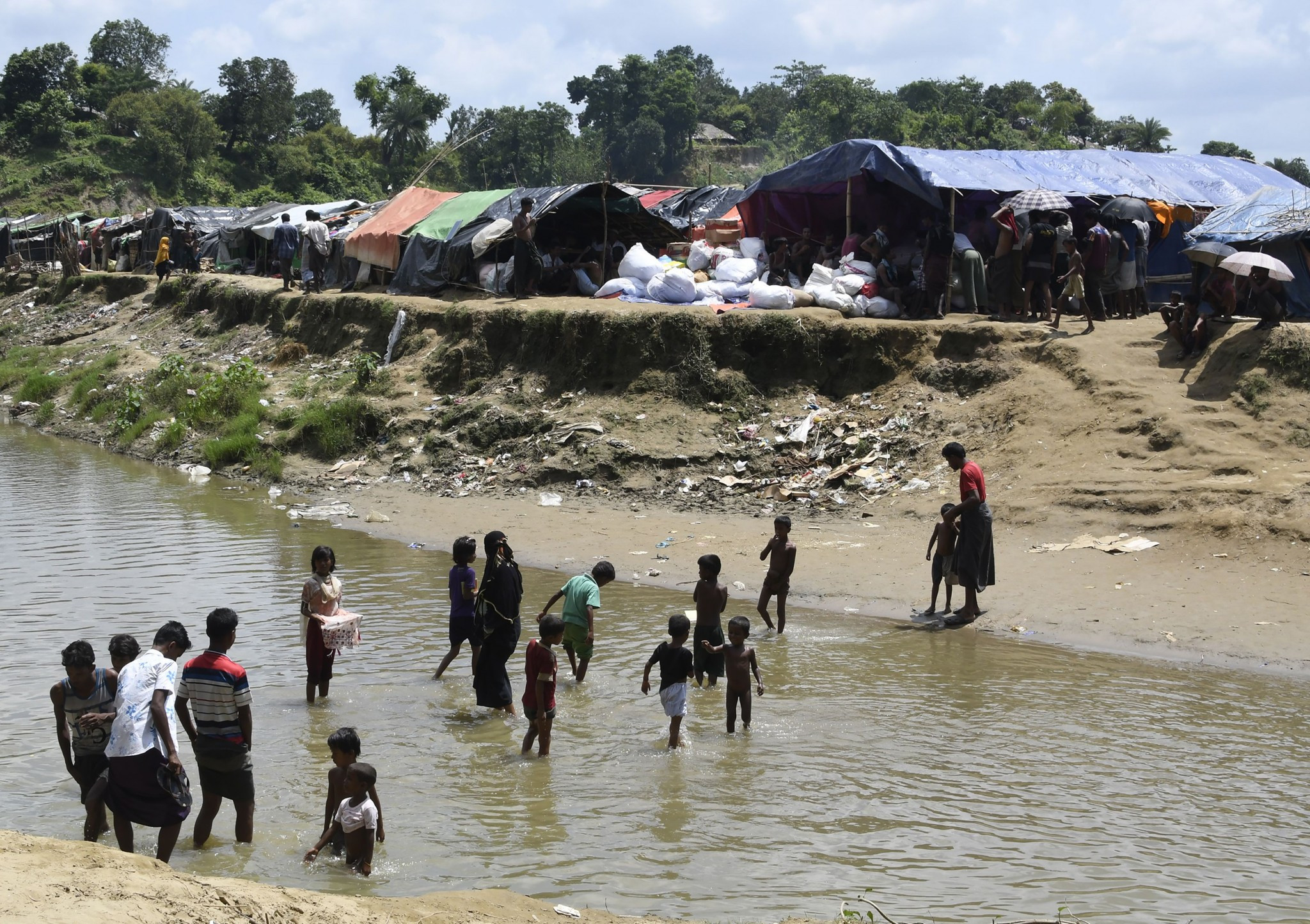 Thousands of Rohingya Muslims have fled into neighbouring states ©Getty Images