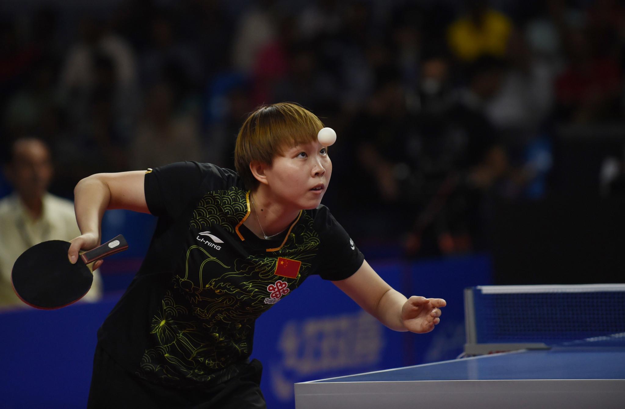 Zhu Yuling won the women's singles final ©Getty Images