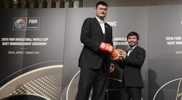 Retired Chinese basketball star Yao Ming and multiple boxing world champion Manny Pacquiao of the Philippines were each involved in their nation's respective bids