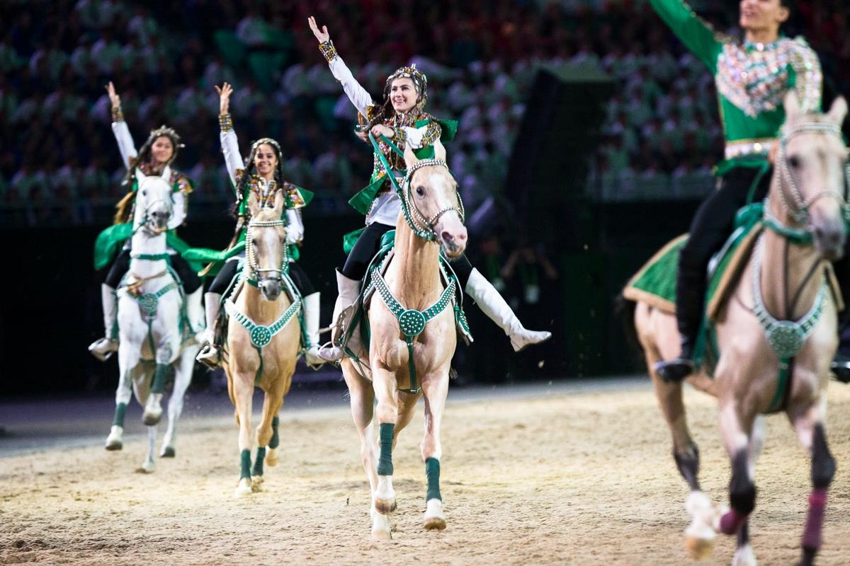 The biggest opening ceremony in Turkmenistan history unfolds Asian Indoor and Martial Arts Games 2017
