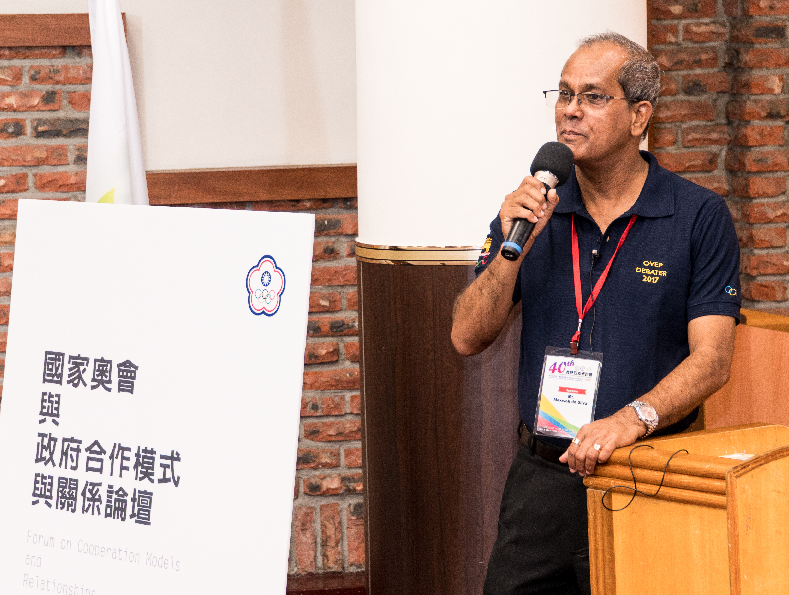 Maxwell Silva from Sri Lanka was among the speakers who addressed the 40th 40th Session of the Olympic Academy in Chinese Taipei ©CTOC