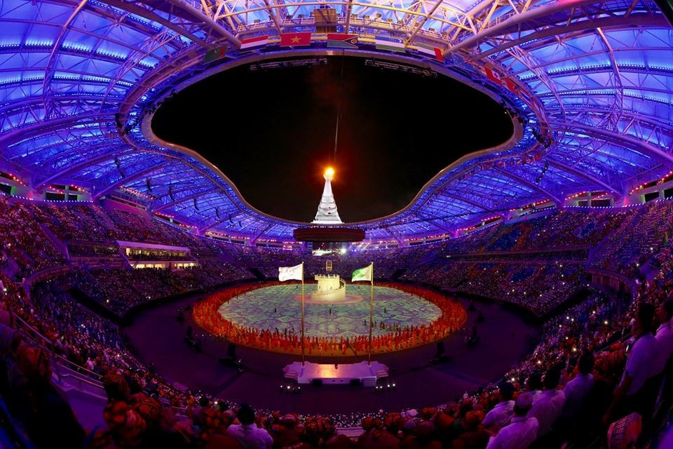 The Asian Indoor and Martial Arts Games were opened in front of a crowd of 45,000 people yesterday ©Ashgabat 2017