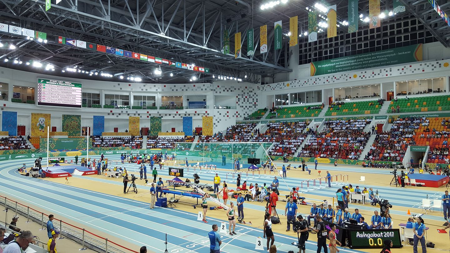 A view of the Indoor Athletics Arena where competition is taking place ©Ashgabat 2017
