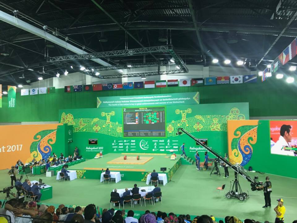 Weightlifting competition also began today at Ashgabat 2017 ©ITG