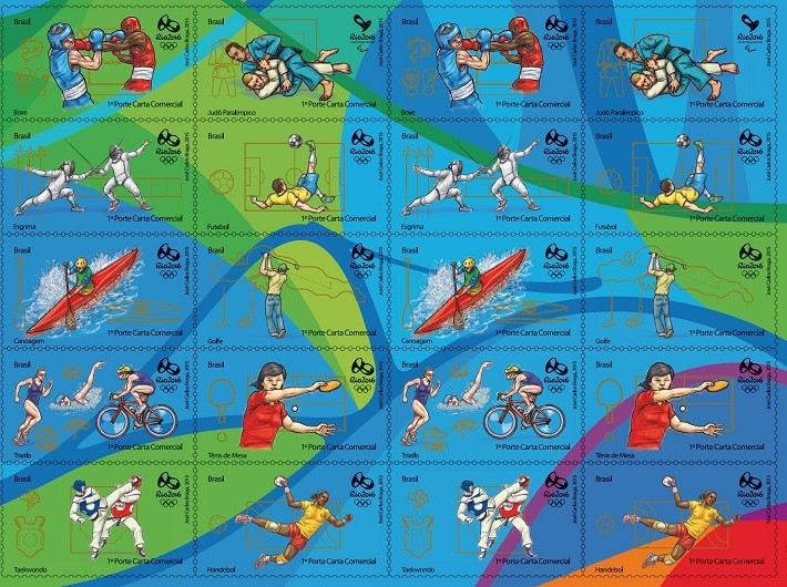 A new collection of stamps representing nine Olympic and 10 Paralympic sports has been released as part of the one-year-to-go celebrations ©Rio 2016
