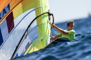 Frenchman leads RS:X windsurfing World Championships on Tokyo 2020 course