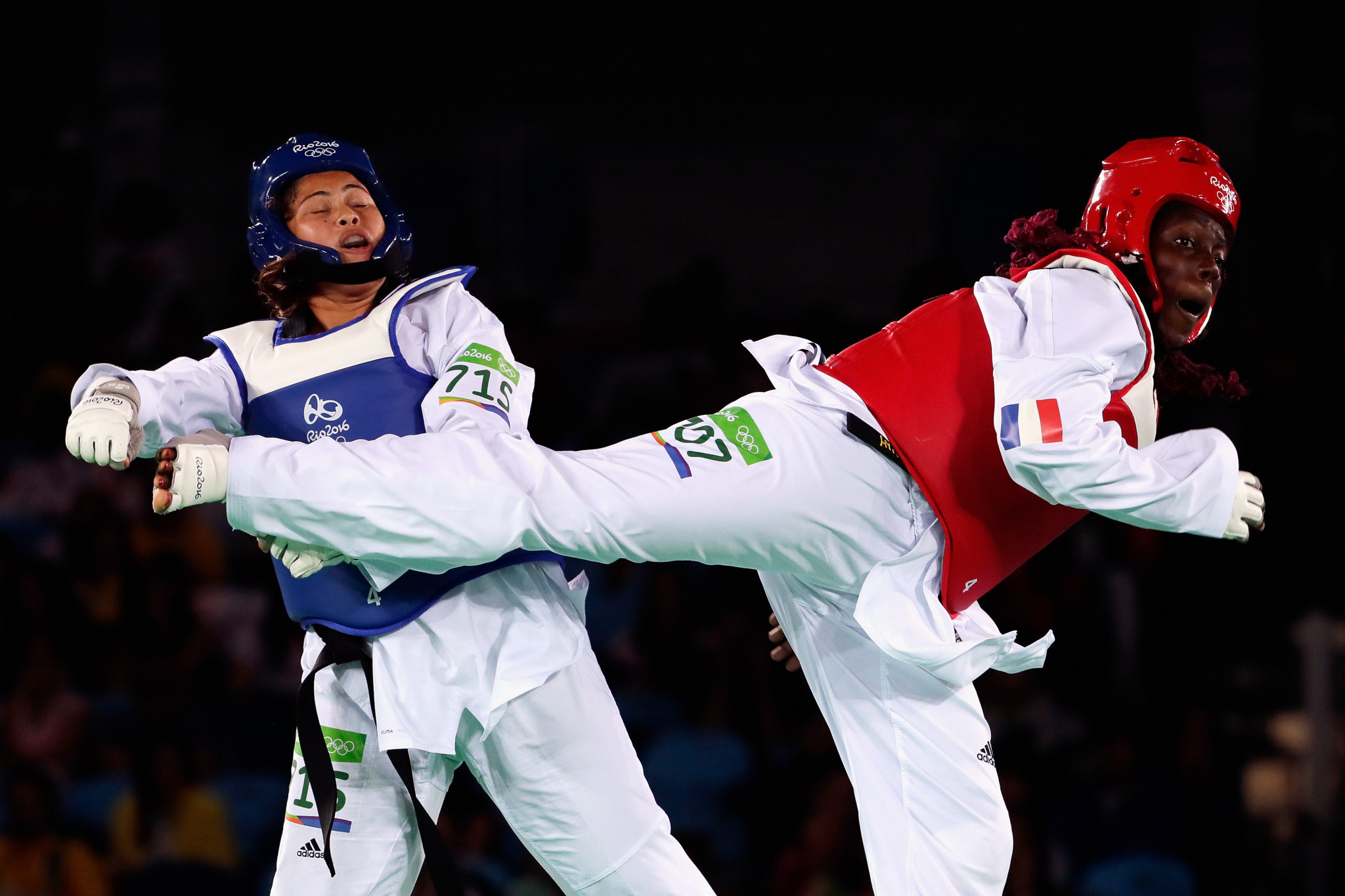 Nisha Rawal, left, is one of Nepal's taekwondo Olympians ©Getty Images