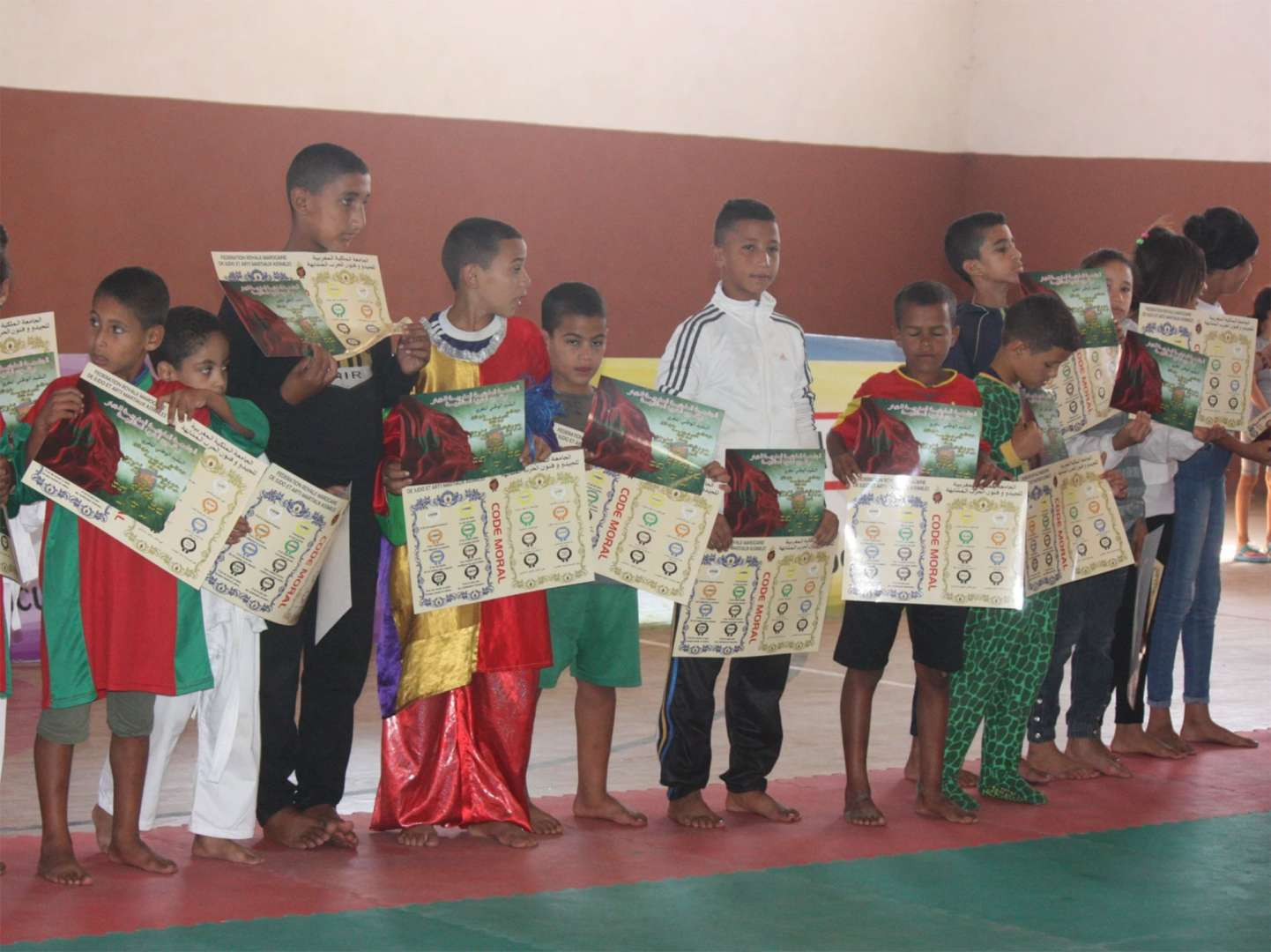 Moroccan Royal Federation of Judo introduce sport to child welfare centres