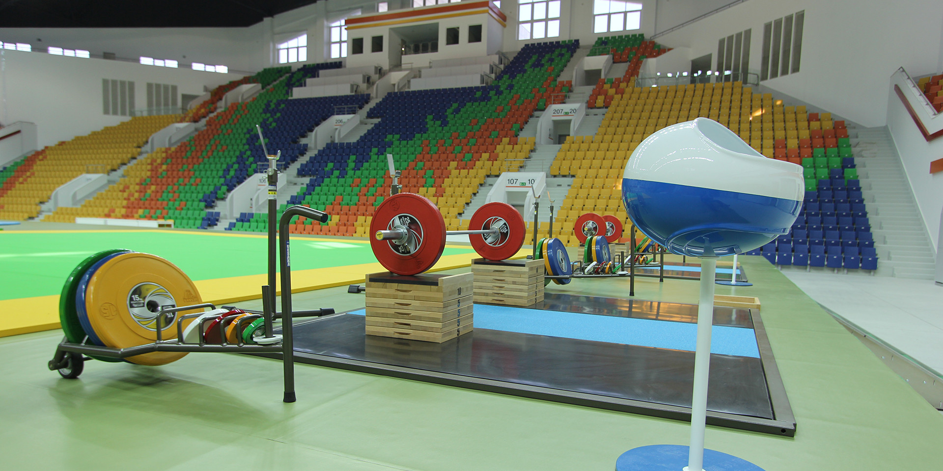 Ashgabat 2017 weightlifting action continued today at the Arena dedicated to the sport ©Ashgabat 2017