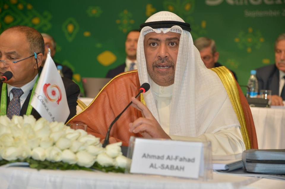 OCA President Sheikh Ahmad Al-Fahad Al-Sabah chaired the meeting today ©OCA