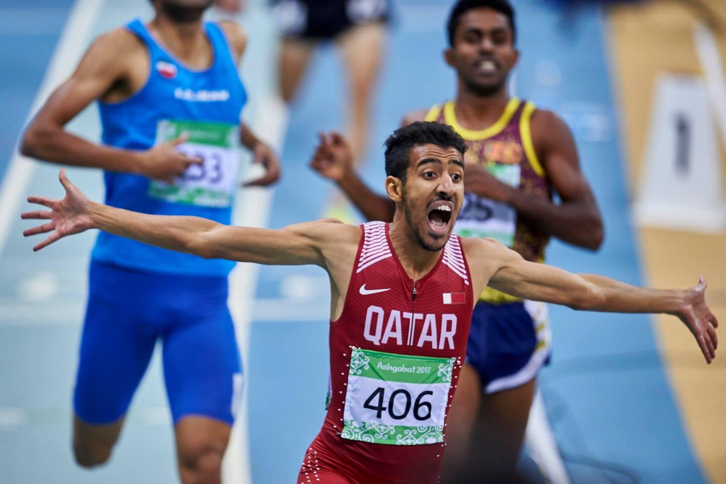 Qatar's Jamal Hairane claimed the men's 800m crown ©Ashgabat 2017/Facebook