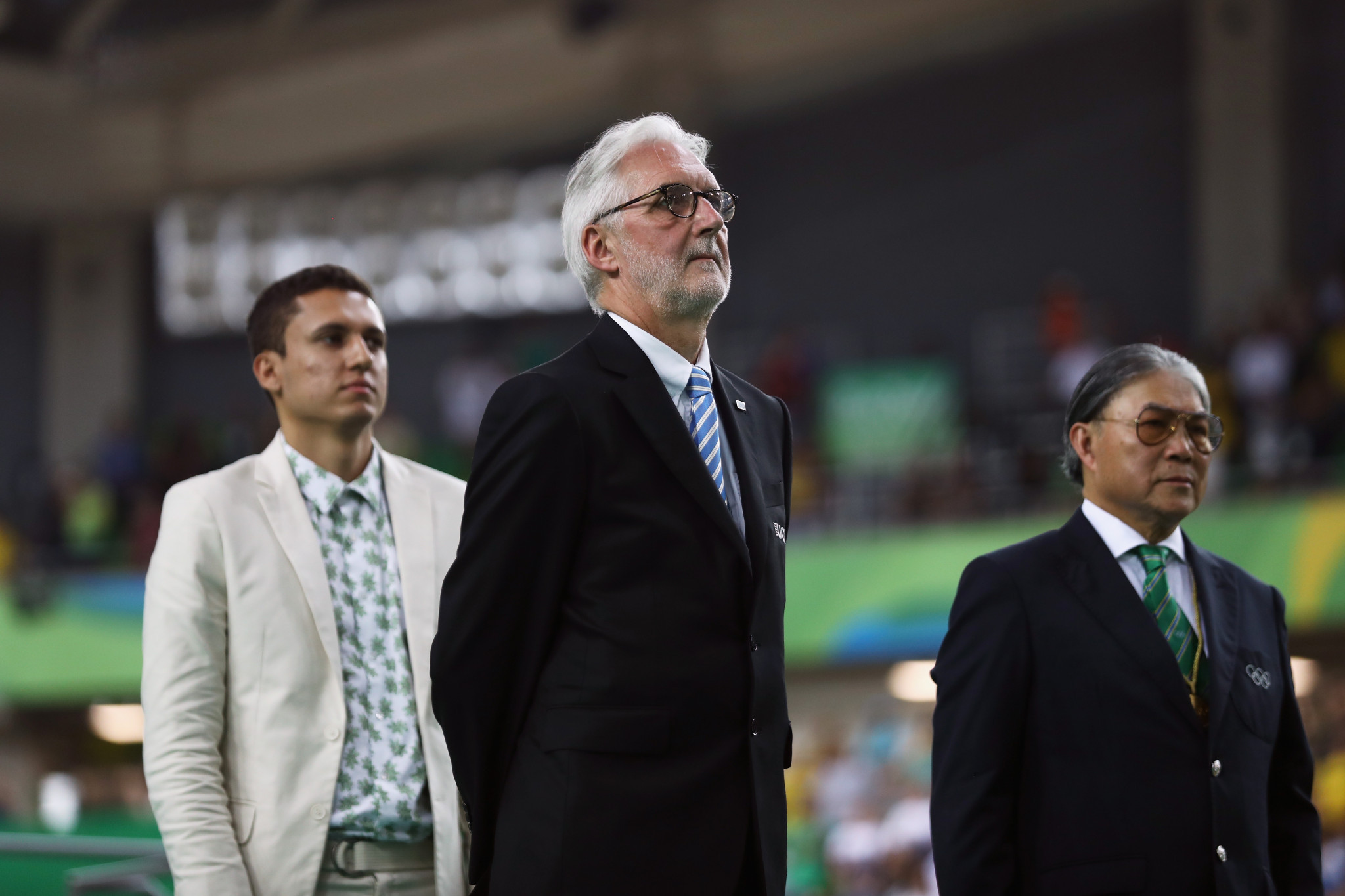 Brian Cookson, centre, is seeking to secure a second term as President ©Getty Images