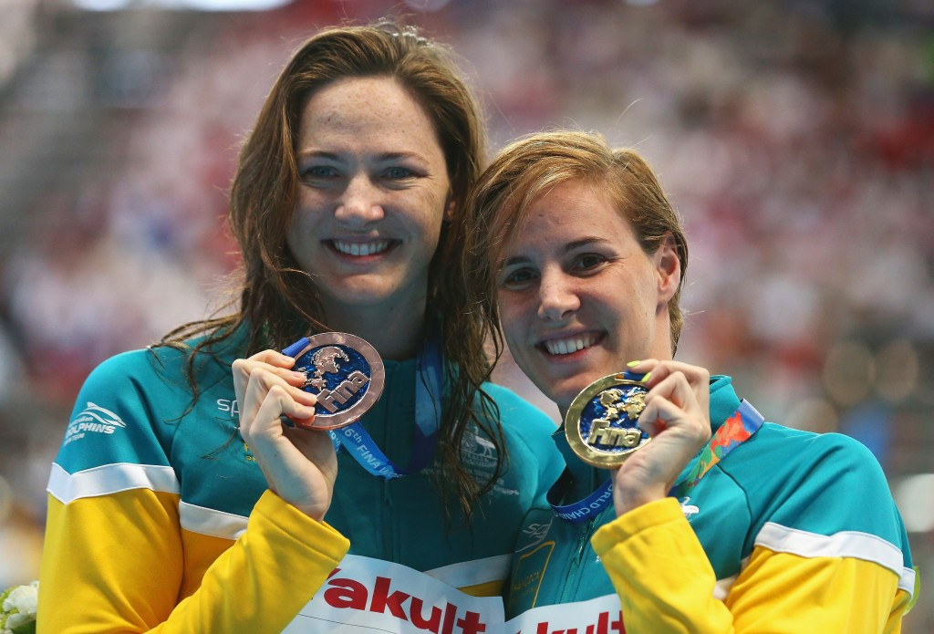 Bronte Campbell earned gold in the women's 100m freestyle while her sister Cate earned bronze ©Getty Images