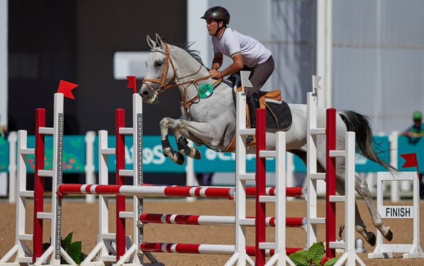 Equestrian jumping competition has also begun today ©Ashgabat 2017
