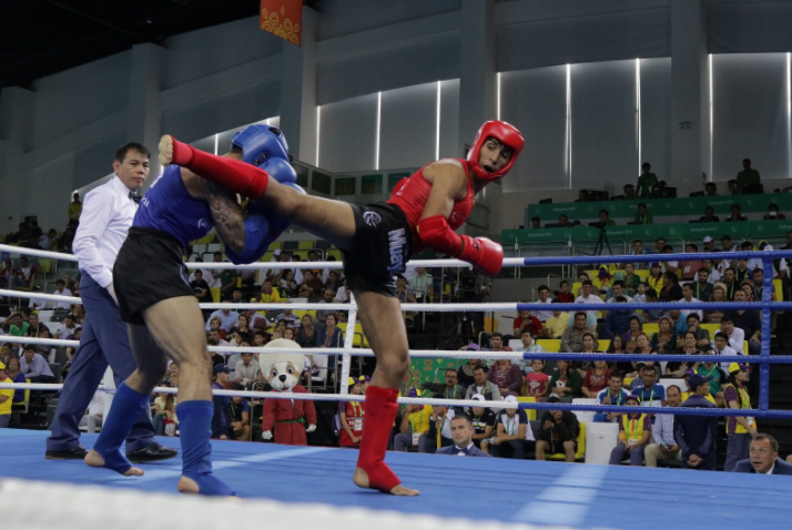 Muay thai finals took place today at Ashgabat 2017 ©IFMA