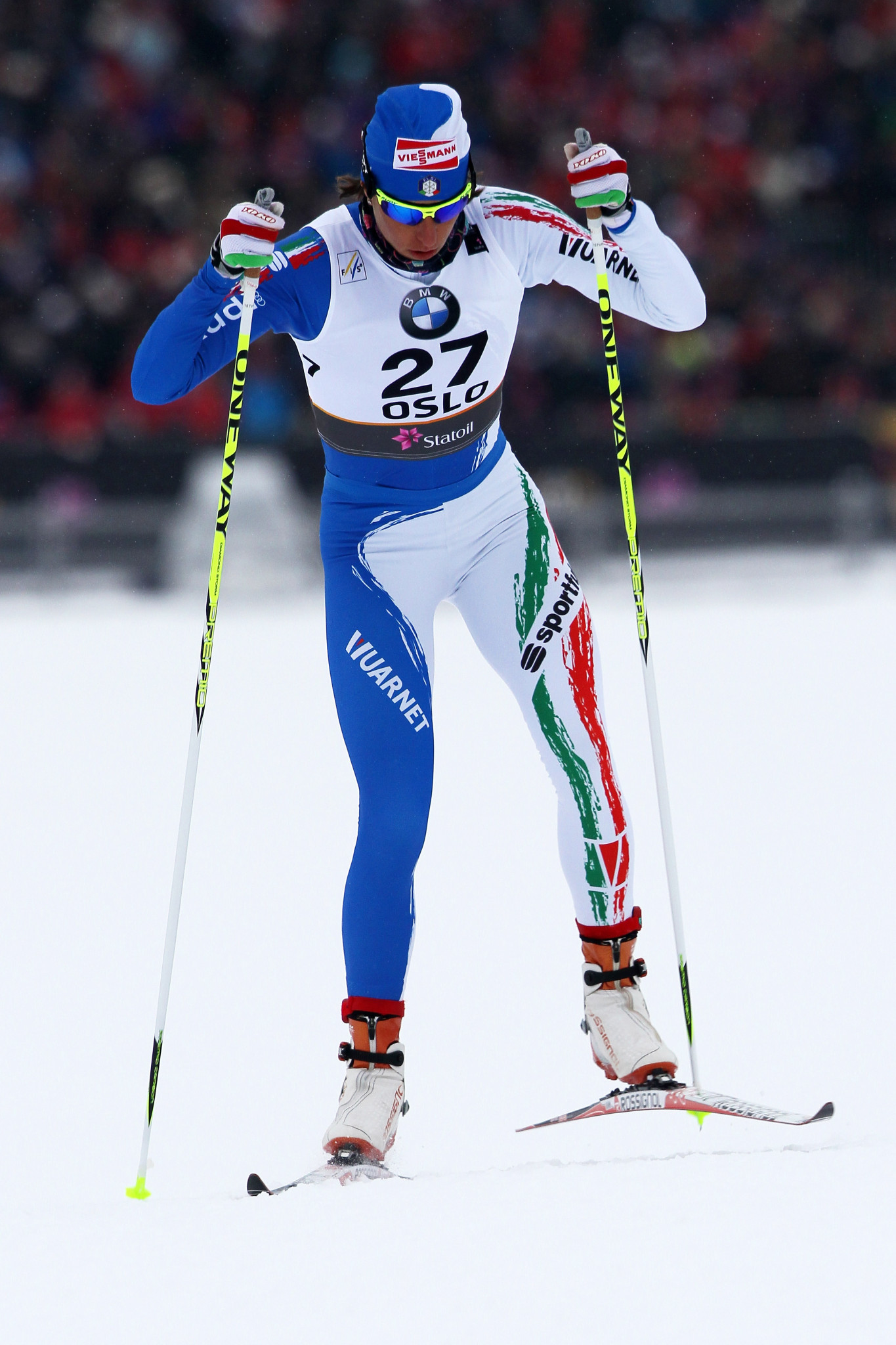 World Cup skier Magda Genuin of Italy was on hand to help the participants ©Getty Images