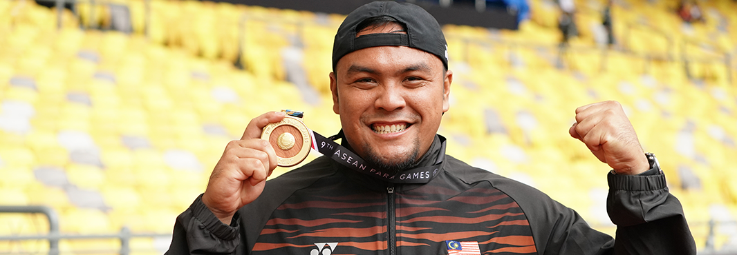 Paralympic champion continues winning streak at ASEAN Para Games